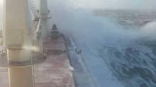 oluja 0001,storm at sea,rough sea,cargo ship on atlantic