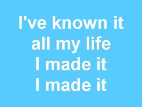 """I Made It (Acoustic)"" - Kevin Rudolf (Lyrics On Screen)"