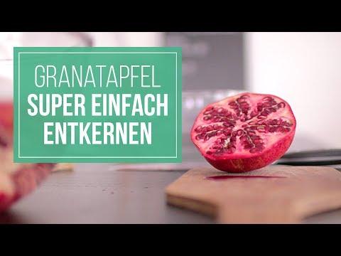 Küchentipp   Granatapfel super einfach entkernen / schälen