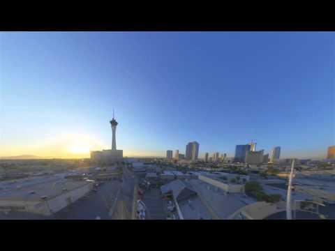 time lapse sunrise over las vegas skyline wide