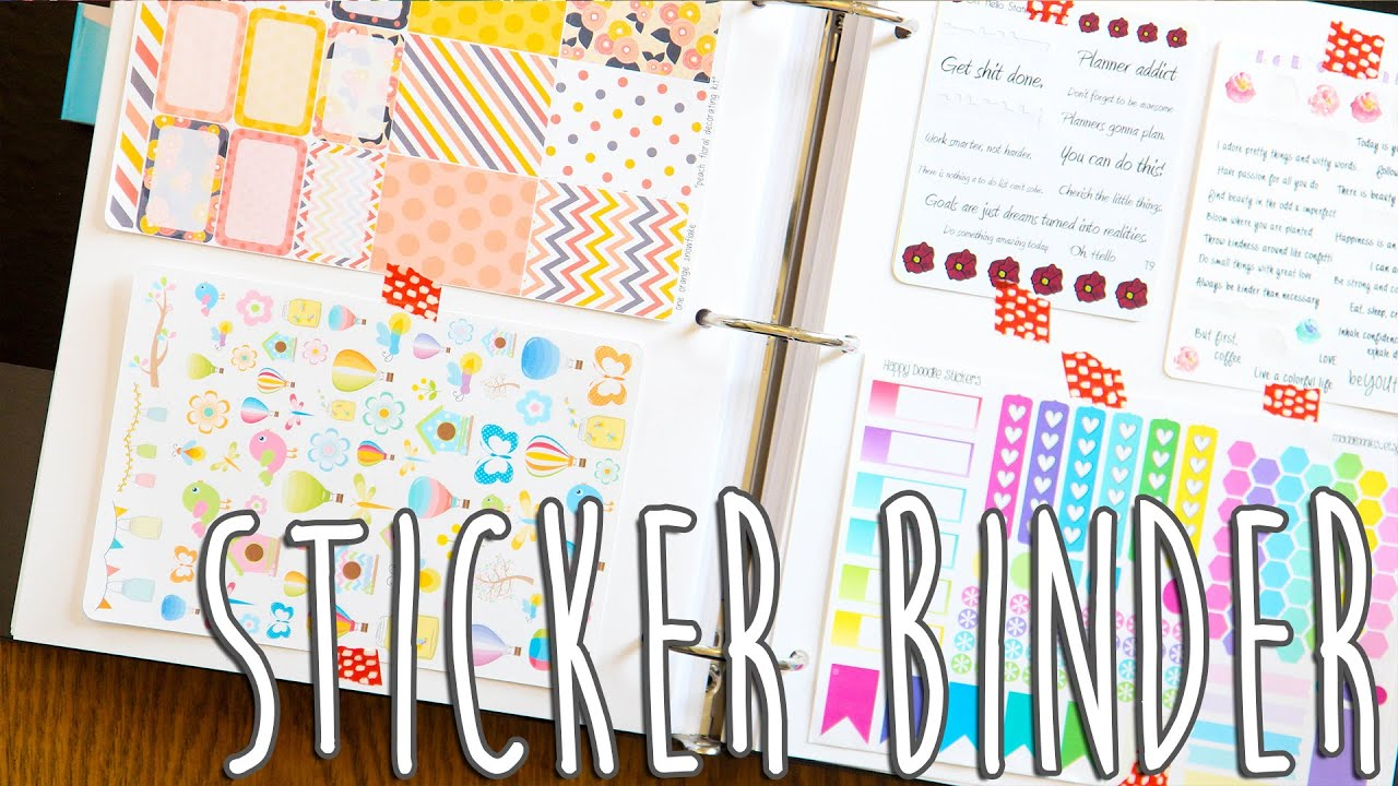 Diy file folder box to organize your stickers youtube - Sticker Storage Organization Youtube
