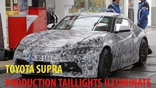 You Need To See Toyota Supra's Production Taillights Illuminate For The Camera
