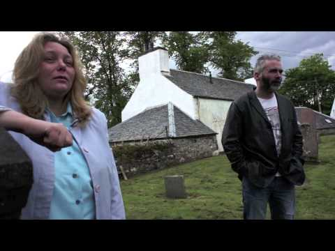 Two Scottish Gypsy Travellers visit Moulin Church Yard, Scotland