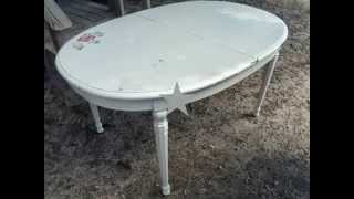 Vintage Mid Century Naturaly Shabby Chic  Real Wood Dinning Table  $135.00