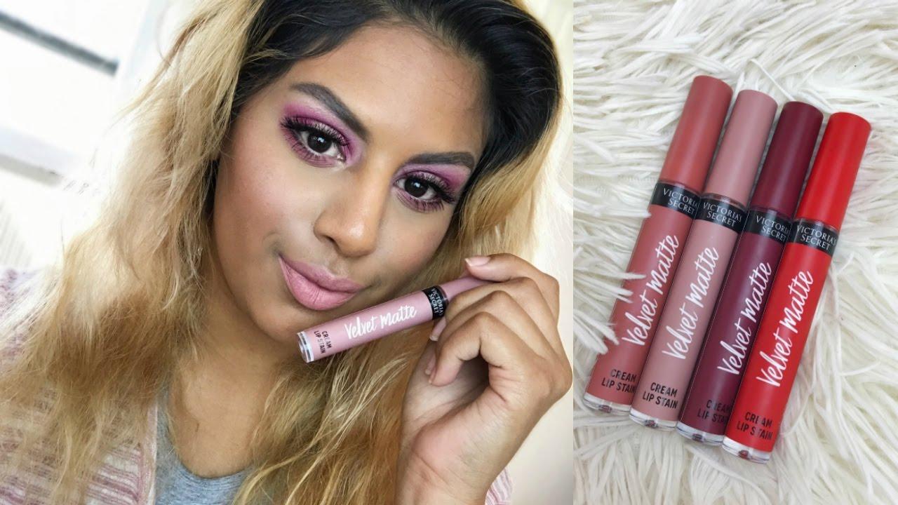 New Victoria Secret Velvet Matte Cream Lipstains Review Youtube