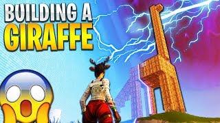 "Building a ""GIANT GIRAFFE"" in Fortnite: Battle Royale!"