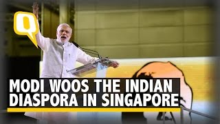 Modi Woos The Indian Diaspora in Singapore