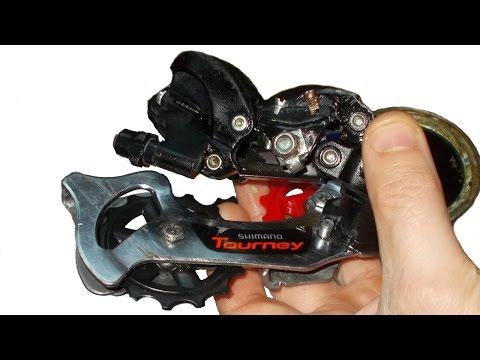 Задняя перекидка переключатель велосипеда, ремонт, реставрация, настройка Shimano Tourney
