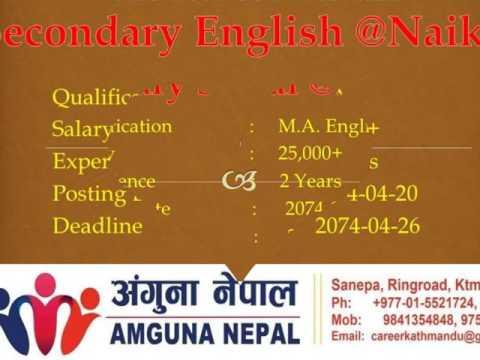 Job Vacancy (www.teacherlecturer.com)