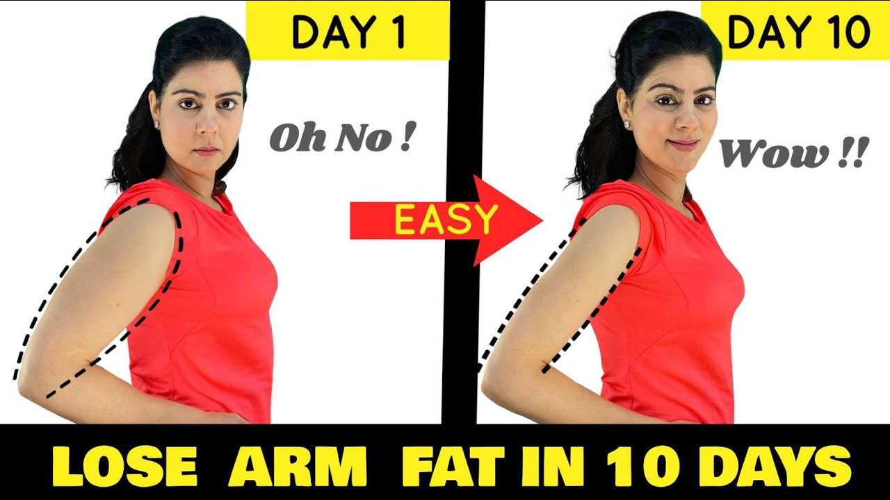 Women's Workout : Lose Arm Fat in 10 Days | 7 Mins Easy Home Workout ( No Equipment )  - MUST  TRY