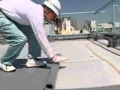 [PVC屋頂防水卷] 日本普遍使用在屋頂防水工程施工情況!(1) - YouTube