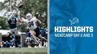 2021 Detroit Lions Minicamp Highlights