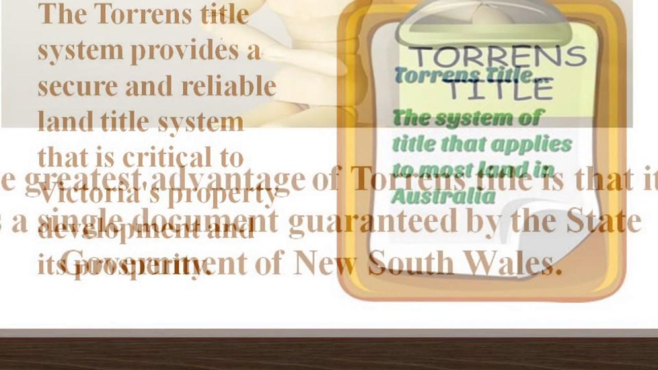 The Torrens Title System In Australia Youtube