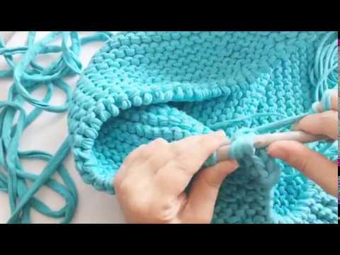 Örgü puf - Ottoman pouf- Knitting pouf