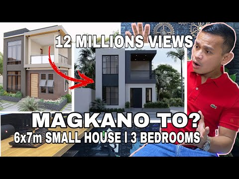 Download SMALL HOUSE DESIGN (6m x 7m)  MAGKANO TO? WITH 3 BEDROOMS