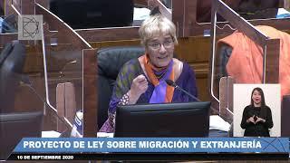 Nueva Ley de Extranjería y Migración sobre votaciones en sala senado 10 9 2020 Parte 2 de 3