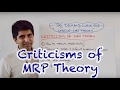 Criticisms of MRP (Marginal Revenue Product) and Labour Demand