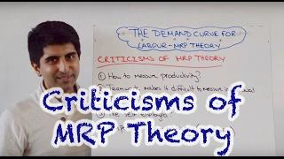Criticisms of MRP (Marginal Revenue Product) and Labour Demand