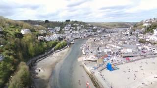 Drone footage over Looe cornwall