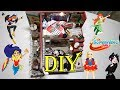DIY Miniature dollhouse for Super Hero Girls with working light!!!