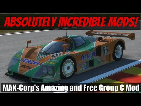 RFactor 2's Incredible New FREE Group C Cars Tested In VR At Spa