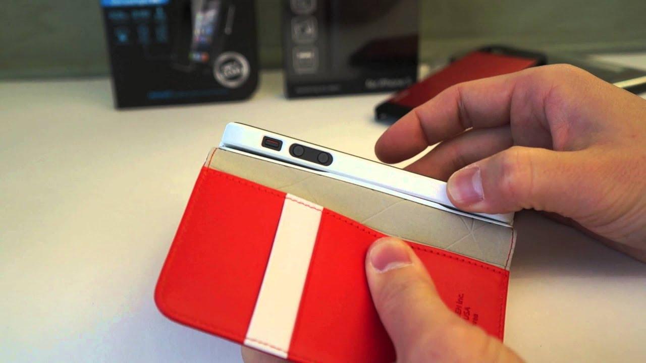 Spigen SGP Leather Wallet Snap Case for iPhone 5 Review