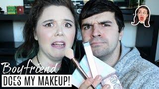 TEACHING MY BOYFRIEND HOW TO DO MAKEUP! | Allie Stephens