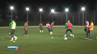 Предматчевая тренировка сборной Кот-д