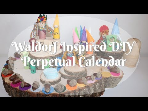 Homeschool Autumm Nature Table & DIY Waldorf Inspired Calendar
