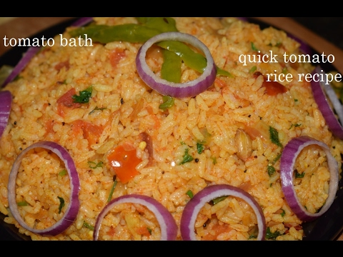 Quick Tomato Rice Recipe in Kannada/Tomato Bath/Tomato Pulav/Tomato chitranna
