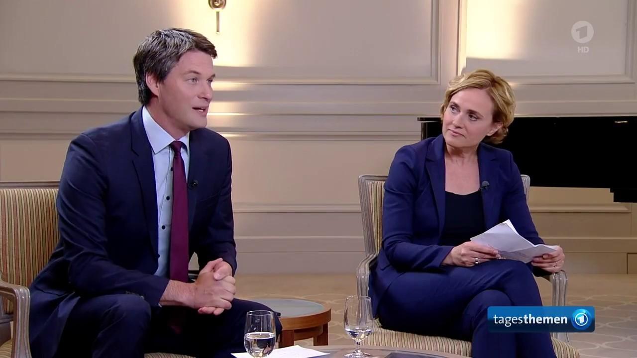 frankreichs prsident macron im interview am 9mai 2018 - Caren Miosga Lebenslauf