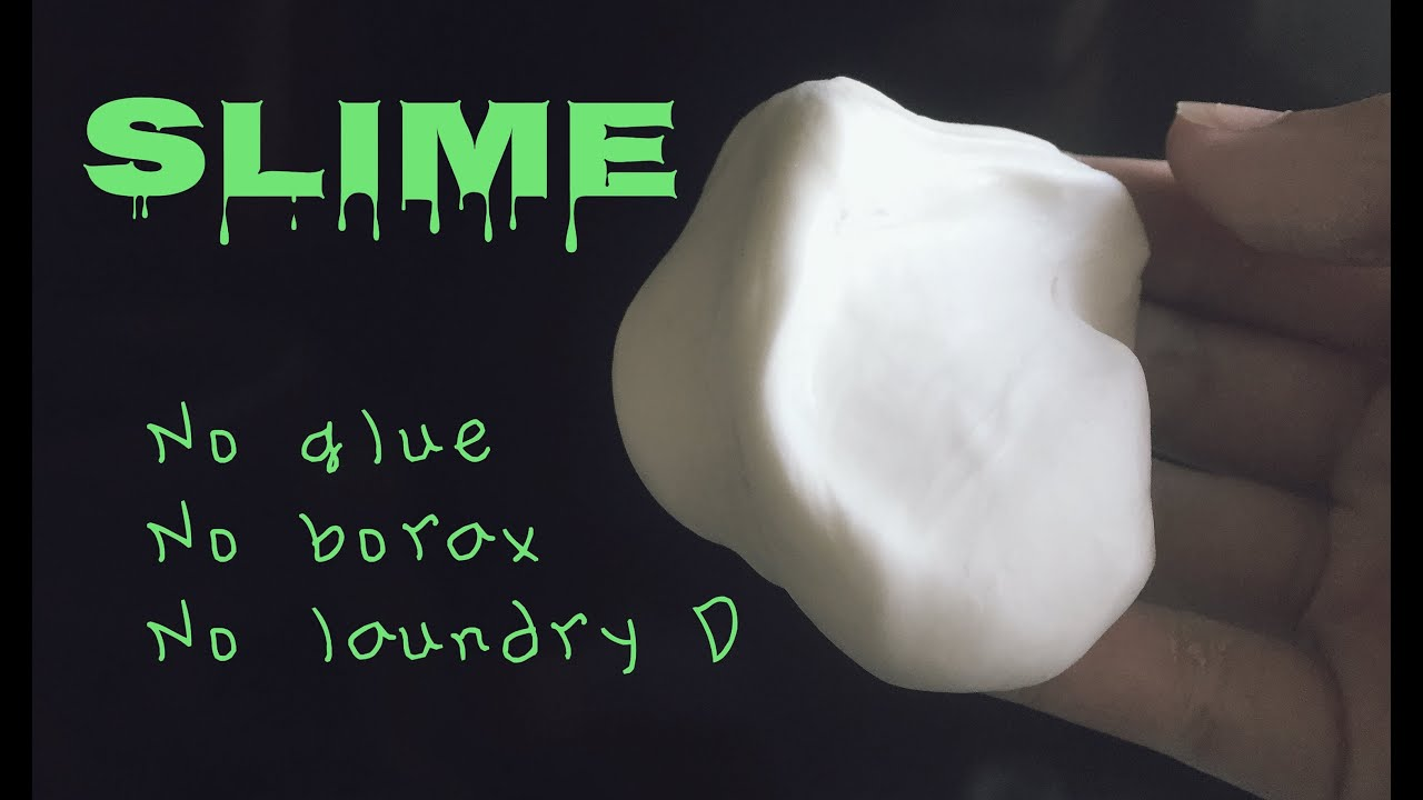 How to make slime - NO glue, borax, & laundry detergent ...