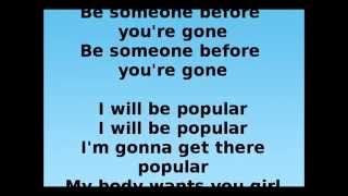 Popular - Eric Saade - lyrics