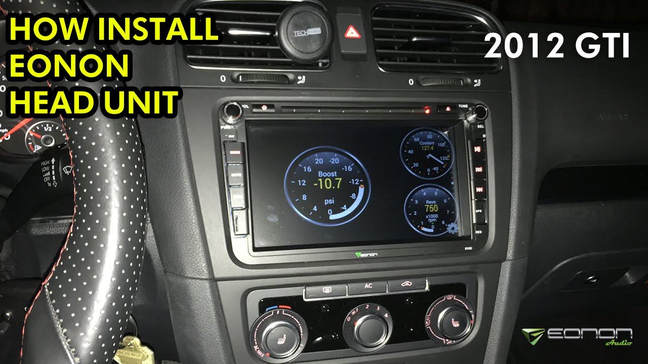 2012 VW GTI: Eonon Head Unit Install & Unboxing (GA5153F)