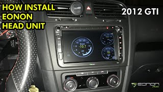 homepage tile video photo for 2012 VW GTI: Eonon Head Unit Install & Unboxing (GA5153F)