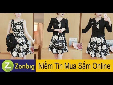 [Zonbig.com] - Đầm Váy Hoa Phối Áo Khoác Lửng