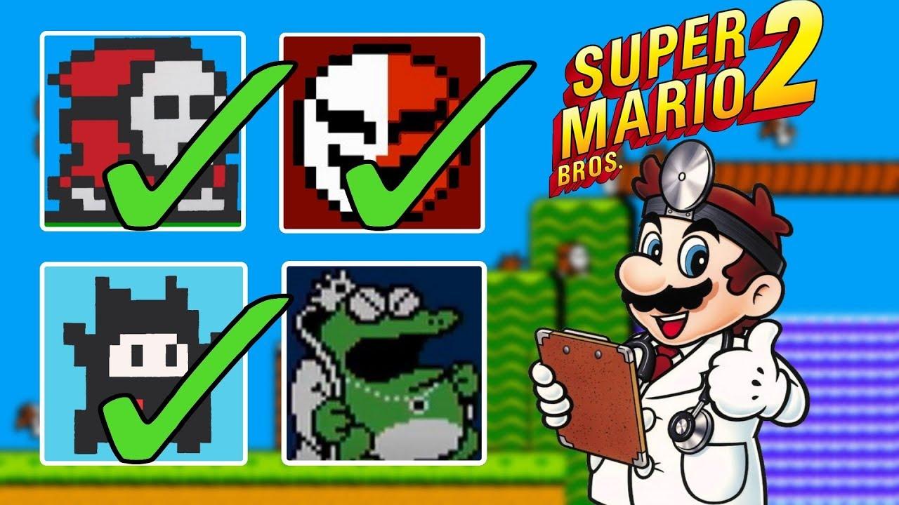 Super Mario Bros 2 All Enemies Youtube