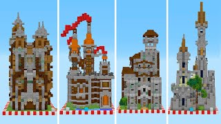Маленькие майнкрафт замки! 16 на 16 блоков