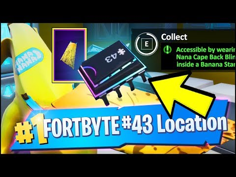 FORTBYTE 43 Location - ACCESSIBLE BY WEARING THE NANA CAPE BACK BLING INSIDE BANANA STAND (Fortnite)