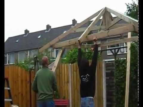 Opbouwfilm van een prieel van kooten tuinmaterialen youtube - Prieel tuin ...