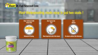 Dr. Fixit Newcoat Range - Roof repair & Waterproofing - Application