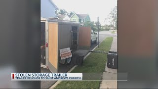 Police searching for stolen church trailer