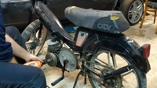 Arrancando con Taladro Moto parada hace 24 años 😲 Mobylette Cady E14