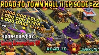 Clash Of Clans greece - Road to Th 11 Ep #22 - New Update + New series!!!