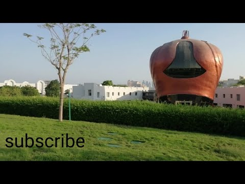 Beautiful garden and commercial establishments in the city center