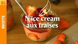 N'ice cream aux fraises