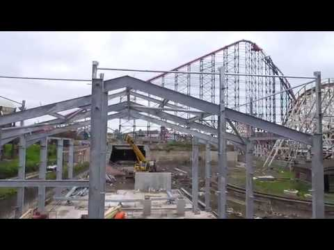"Pleasure Beach's ""Icon"" Construction Update"
