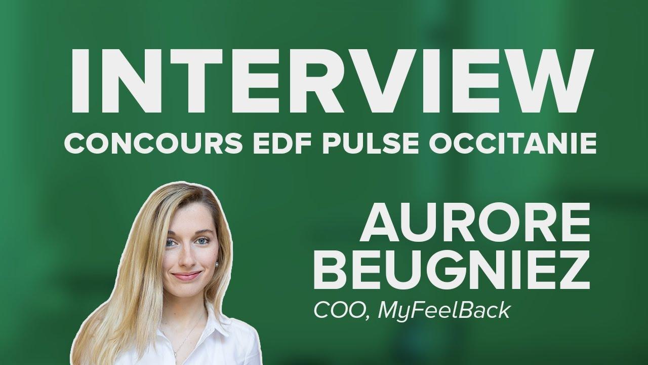 Concours EDF Pulse Occitanie : Aurore Beugniez présente MyFeelBack