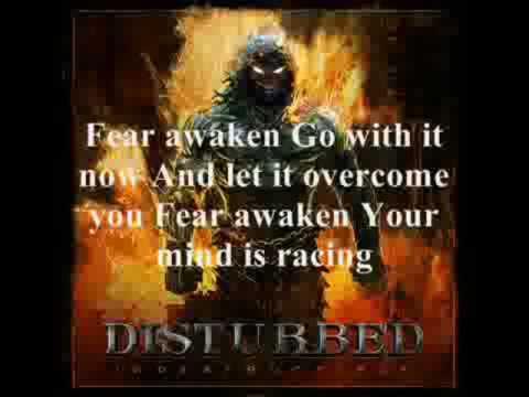 Disturbed Fear with lyrics