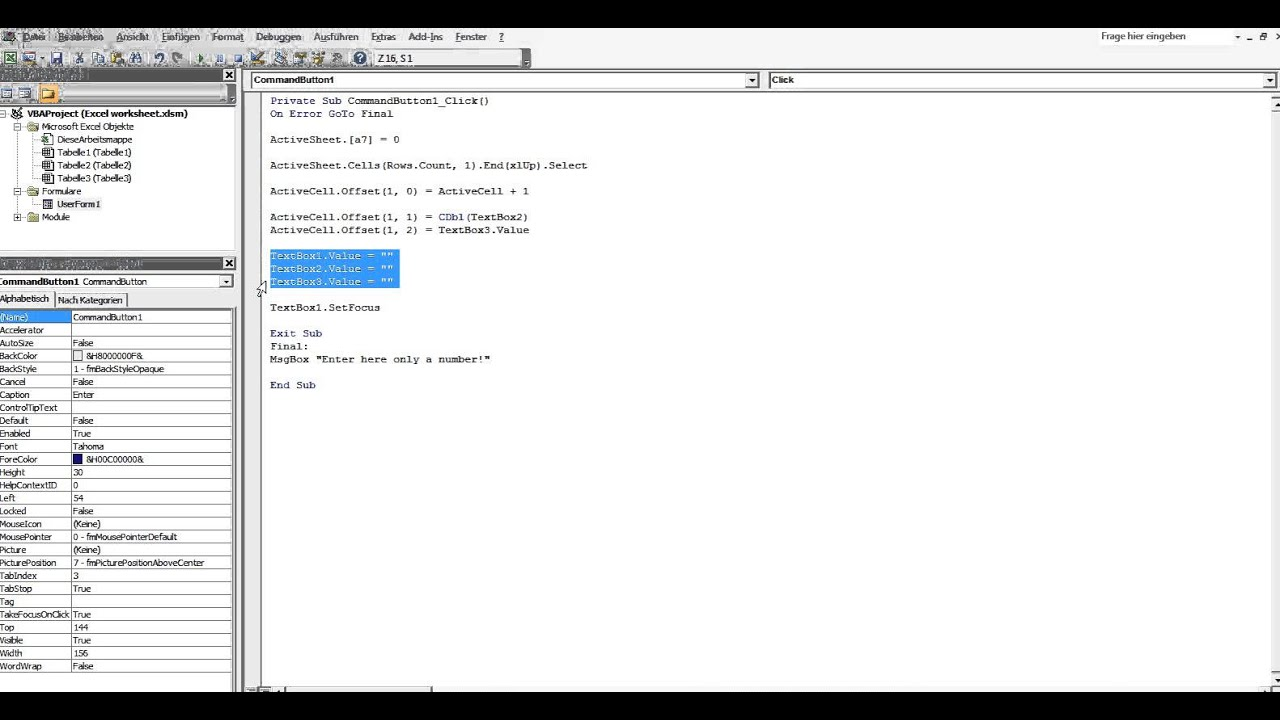 12gs Create Serial Number In Excel Database Excel Vba Programming Display Language German